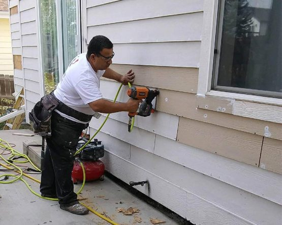 rotted siding repair